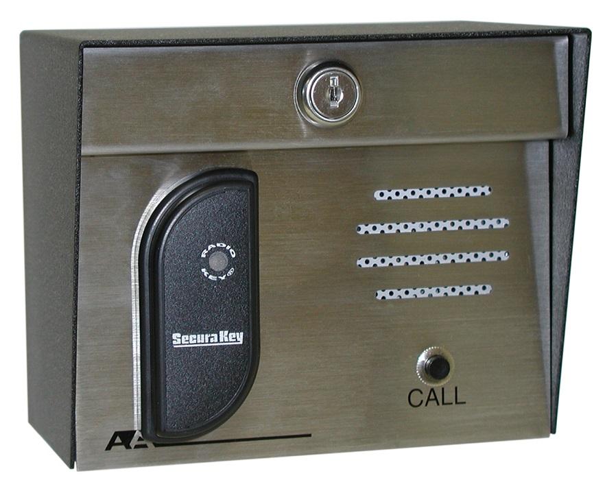 23-213i SecuraKey Proximity Card Reader with Intercom, 3-6 inch Read Range (Post Mount)